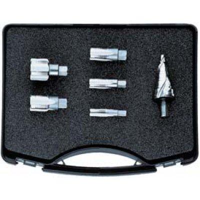 Sada zárezových závitníkov Sada od M12 do M32 x1,5 a stupňovitý vrták 7-32,5mm FORMAT