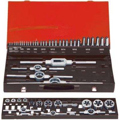 Sada ručných závitníkov DIN352 HSS M3-20 FORMAT