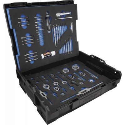 Sada nástrojov na rezanie závitov HSS-Co5 61 ks. M3-M12 EXACT