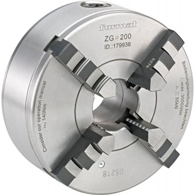 Štvorčeľusťové sústružnícke skľučovadlo DIN6350 liatina 125mm FORMAT