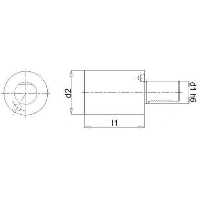 VDI 4hran Röhling A2 25 x 200 mm