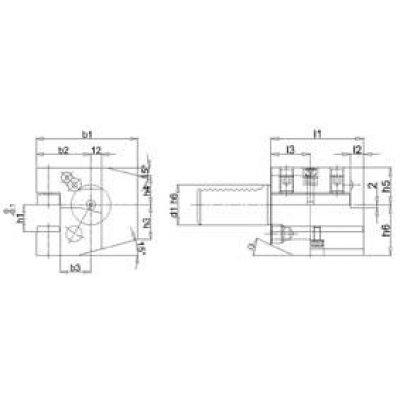 VDI ax. drzak nastroje L C2 30 x 20 mm
