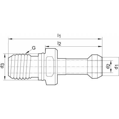 Uťahovací čap JISB6339 BT40 45 ° vnútorné chladenie FORMAT