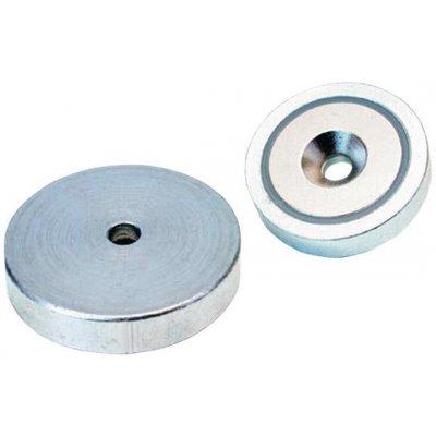 Magnetický plochý chapač NdFeB s otvorom 25x7mm FORMAT