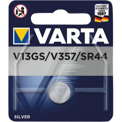 Gombíkový článok Electronics strieborný V13GS / V357 1,55Volt Blister na 1 ks. VARTA