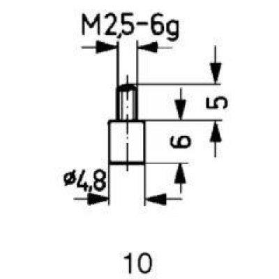 Meracie snímač oceľ typ 10 / 4.8mm Käfer
