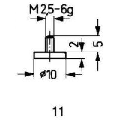 Meracie snímač oceľ typ 11 / 10,0mm Käfer