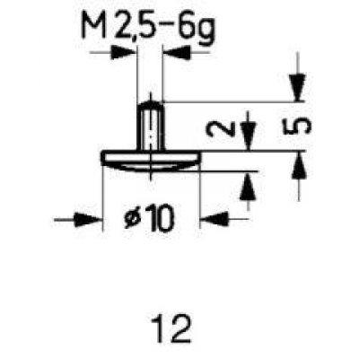 Meracie snímač oceľ typ 12 / 10,0mm Käfer