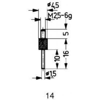 Meracie snímač oceľ typ 14 / 1,5mm Käfer
