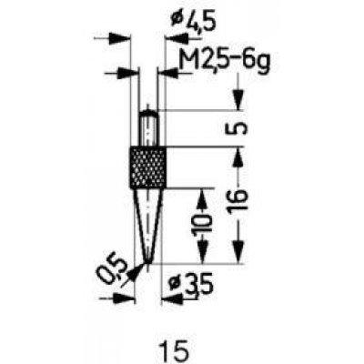 Meracie snímač oceľ typ 15 / 0,5mm Käfer