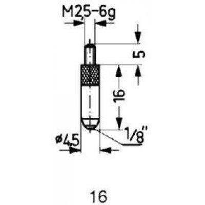 Meracie snímač oceľ typ 16 / 16,0mm Käfer
