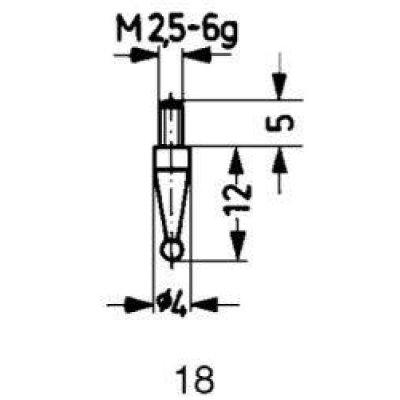 Meracie snímač oceľ typ 18 / 1,0mm Käfer