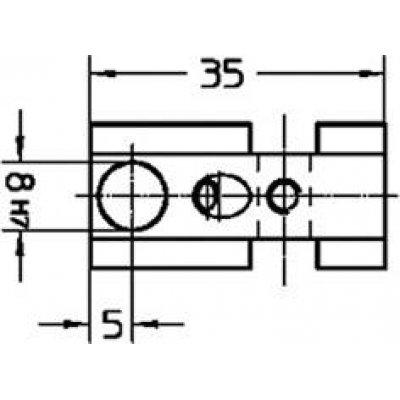 Držiak na snímač, krátky 35mm HP