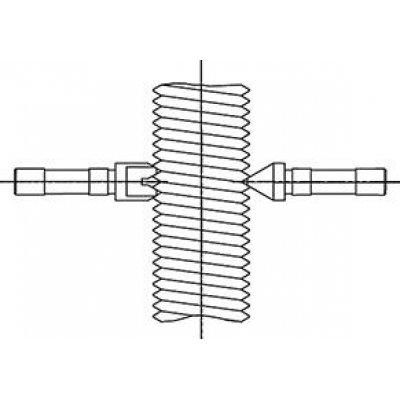 Závitové mierky (pár) na stúpanie metrických vonkajších závitov: 0,4-0,45mm HP