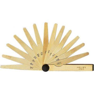 Presná štrbinová mierka 20 listov 0,05-1mm mosadz FORMAT