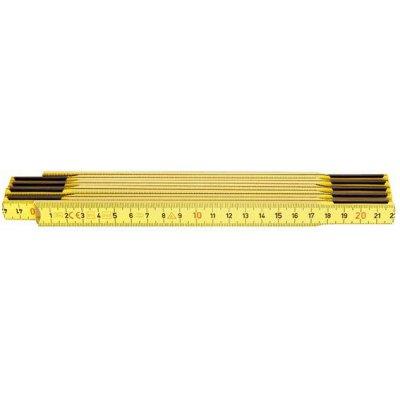Skladací meter drevený žltý 2mx17mm HULTAFORS