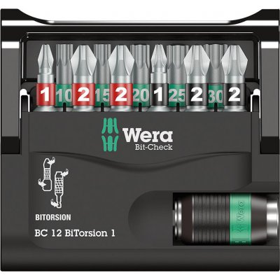 Sada bity Bit-Check 12 BiTorsion 1 Wera