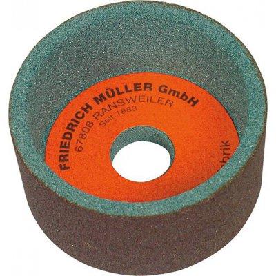 Hrncový brúsny kotúč karbid kremíka 100x50x20mm K80 Müller