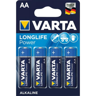 Batterie LONGLIFE Power AA 4 ks v blister balení VARTA