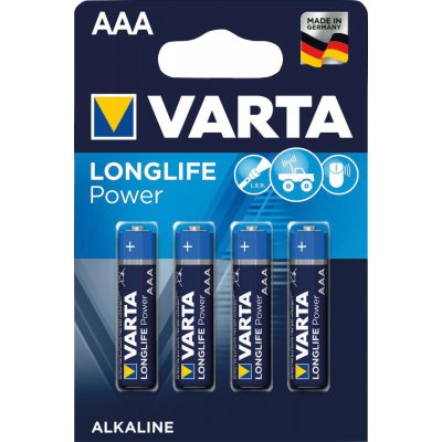 Batterie LONGLIFE Power AAA 4 ks v blister balení VARTA