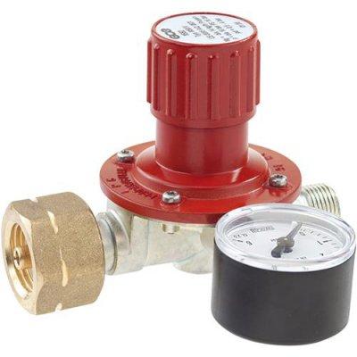 Regulátor pre propánové nádoby 5/11 / 33kg a manometer plyn 0,5-4bar GCE