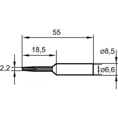 Letovací hrot, dlátový 0832EDLF 3,2mm SB Ersa