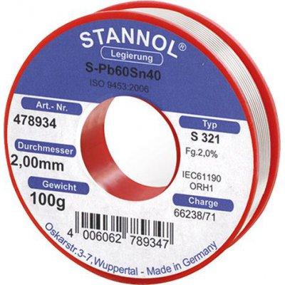 Spájkovací drôt 478934 100g O2mm Stannol