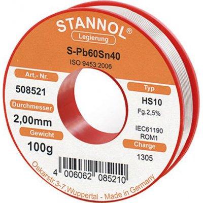 Spájkovací drôt pre rádiové moduly 508521 100g O2mm Stannol