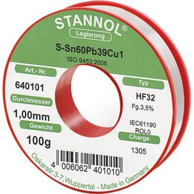 Spájkovacia drôt na elektronické moduly 640101 100g O1mm Stannol