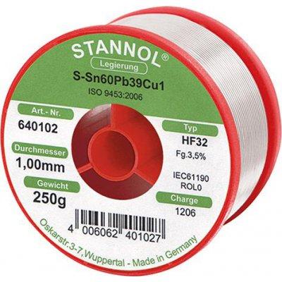 Spájkovacia drôt na elektronické moduly 640102 250g O1mm Stannol