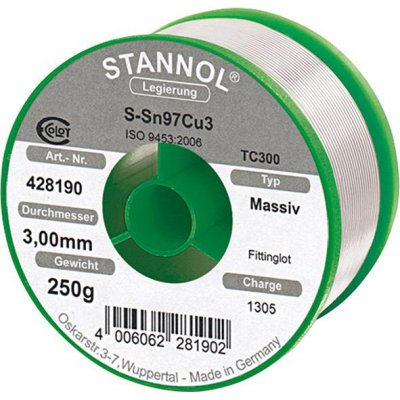 Spájka na tvarovky 428190 250g O3mm Stannol