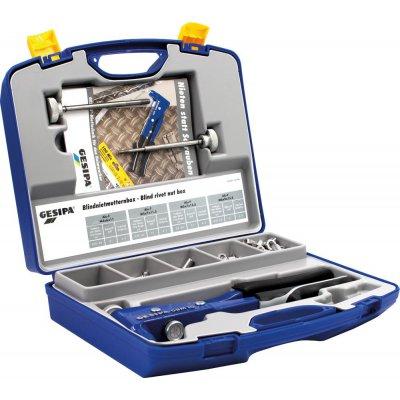 Box matica pre trhacie nity a usazovačka matíc trhacích nitov GBM 10 M4-M6 195 ks. GESIPA