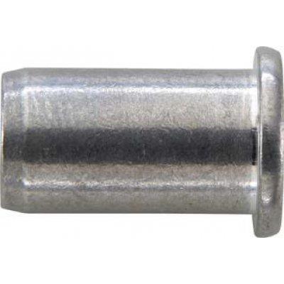 Matice na trhacie nity, hliník plochá guľatá hlava M6x9x15,5mm GESIPA