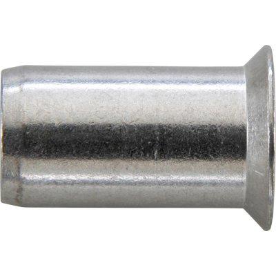 Matice na trhacie nity, oceľ pozinkovaná, zápustná hlava 90 ° M6x9x17mm GESIPA
