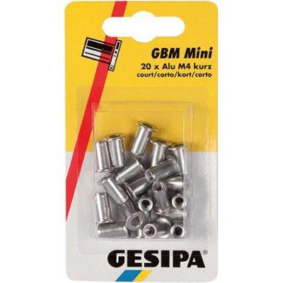 Matice na trhacie nity, hliník mini balenie M4 krátke GESIPA