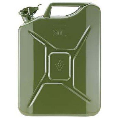 Kanister na palivo oceľový plech, menovitý obsah 20l olivový Valpro