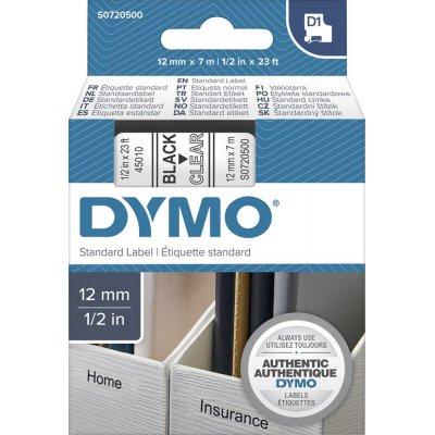 Popisovacia páska D1 45012 červená / priehľadná 12mmx7m DYMO