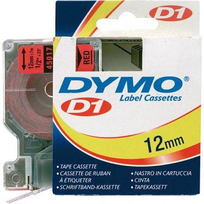 Popisovacia páska D1 45017 čierna / červená 12mmx7m DYMO