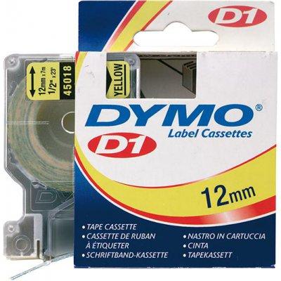 Popisovacia páska D1 45018 čierna / žltá 12mmx7m DYMO