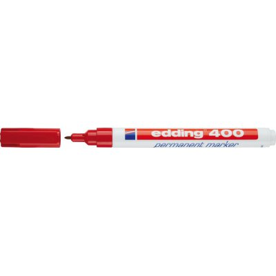 Permanentný popisovač 400 červená edding