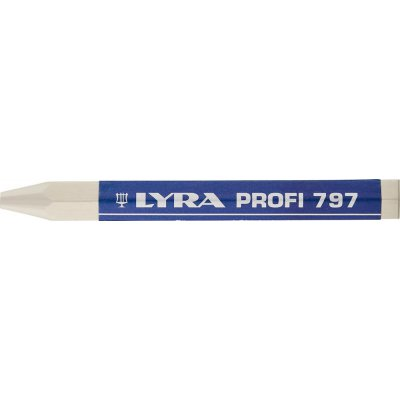 Lesnícka a značkovacia krieda 797 biela, 12 ks./balení LYRA