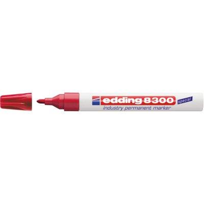Priemyselný permanentný popisovač 8300 červená edding