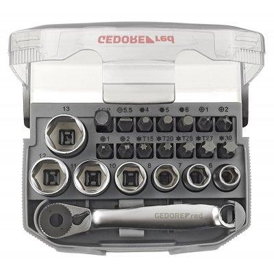 Sada nástrčných kľúčov 1/4 kľúčový otvor 6-13 mm + bity 23 dielov Gedore RED
