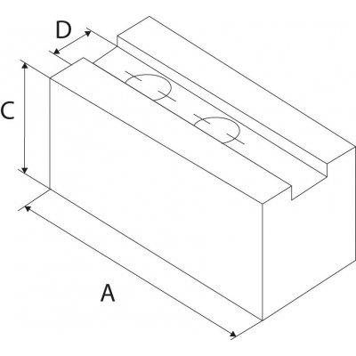 Nadstavbová čeľusť 1,5x60 ozubenie 130x50x50mm N21 Kitagawa