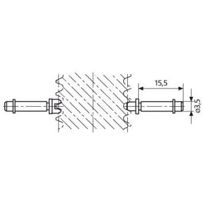 Vložka pre závitový Mikrometer na meranie drážok P14mm MAHR