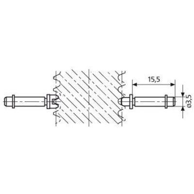 """Vložka pre závitový Mikrometer na meranie drážok P14-10 rozmer 1"""" MAHR"""