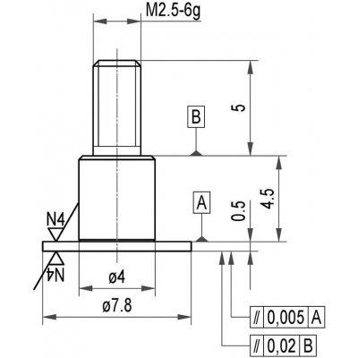 Merací snímač oceľ tanier 7,8x0,5mm Käfer