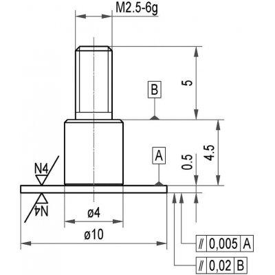 Merací snímač oceľ tanier 10x0,5mm Käfer