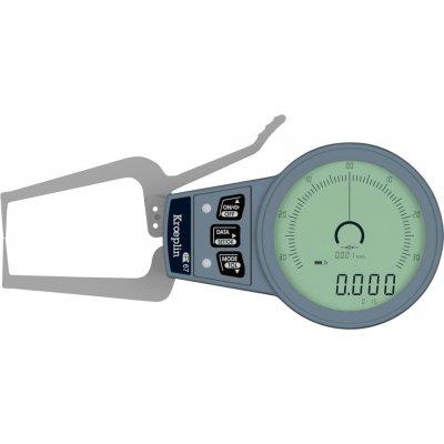 Vonkajšie rychlosnímač 0-15mm brit: R0,4mm KRÖPLIN