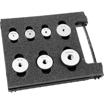 Sada závitové kalibre krúžky (výmet z diel) 6g M3-M12 FORMAT